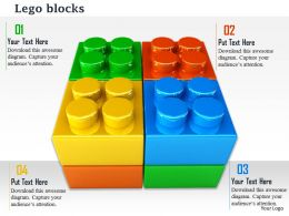 0814 Multicolored Lego Blocks Making Square Shape Image Graphics For PowerPoint