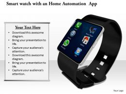 0814 Multiple Apps Enabled Smart Watch Image Graphics For Powerpoint