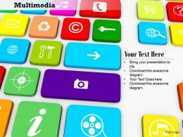 0814 Multiple Multimedia Keys On Keyboard For Internet Applications Image Graphics For PowerPoint