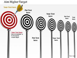 0814 Multiple Target Darts In Black Color With One Red An Arrow Hitting Image Graphics For Powerpoint