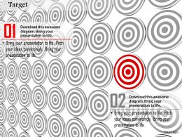 0814 Multiple Target Darts With One Red Dart To Show Leadership Image Graphics For PowerPoint