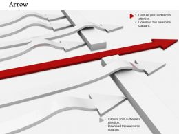 0814_multiple_white_arrows_with_one_red_arrow_crossing_wall_to_show_leadership_image_graphics_for_powerpoint_Slide01