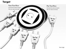 0814_multiple_white_plugs_with_socket_on_black_dart_image_graphics_for_powerpoint_Slide01