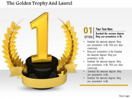 0814 Number One Position Laurel For Victory And Success Image Graphics For Powerpoint