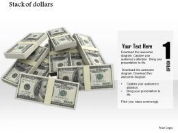 0814 Pile Of Dollars For Finance Graphics For Powerpoint