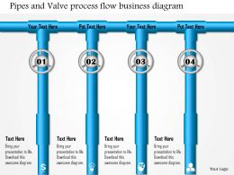 0814 Pipes And Valve Process Flow Business Diagram Powerpoint Presentation Slide Template