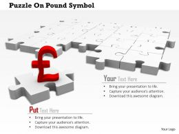 0814 Pound On Puzzle For Finance Image Graphics For Powerpoint
