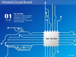 0814 Printed Circuit Board PCB With CPU Chip Icon For Chip Design EDA Ppt Slides