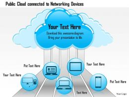 0814_public_cloud_connected_to_networking_devices_showing_connectivity_ppt_slides_Slide01
