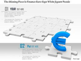 0814 Puzzle Mat With Euro Symbol On Single Puzzle Showing Financial Solution Image Graphics For Powerpoint