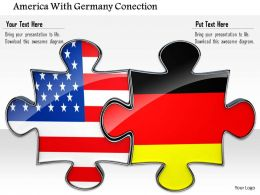 0814 Puzzle To Show Us And Germany Connection For Business Image Graphics For PowerPoint