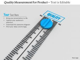 0814 Quality Measurement For Product With Meter Image Graphics For Powerpoint