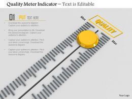 0814 Quality Meter Indicator With Max Value Image Graphics For Powerpoint