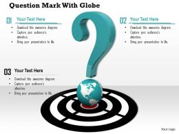 0814 Question Mark On Globe With Target Image Graphics For Powerpoint
