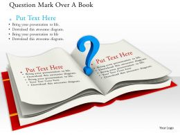 0814 Question Mark Over A Book For Planning Graphics For Powerpoint
