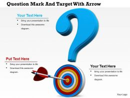 0814 Question Mark Over The Dart And Arrow Image Graphics For Powerpoint