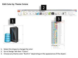 4542795 Style Technology 1 Servers 1 Piece Powerpoint Presentation Diagram Infographic Slide