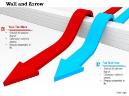 0814_red_and_blue_arrows_jumping_the_wall_success_and_leadership_display_image_graphics_for_powerpoint_Slide01