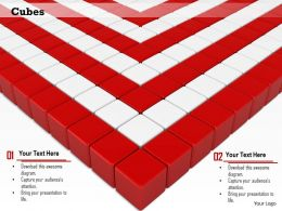 0814 Red And White Cubes Background Image Graphics For PowerPoint