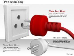 0814 Red And White Plugs Approaching To Socket Image Graphics For Powerpoint