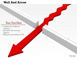 0814_red_arrow_breaked_the_wall_shows_leadership_image_graphics_for_powerpoint_Slide01