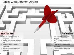 0814_red_arrow_in_the_centre_of_maze_image_graphics_for_powerpoint_Slide01