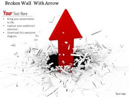 0814 Red Arrow Moving Out From Cracked Background Image Graphics For Powerpoint