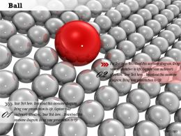 0814 Red Ball Over Grey Balls Shows Leadership Image Graphics For PowerPoint
