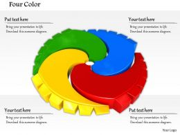 0814 Red Blue Green And Yellow Gears For Process Control Image Graphics For Powerpoint