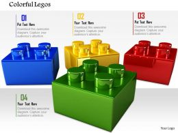0814 Red Blue Green And Yellow Lego On Background Image Graphics For PowerPoint