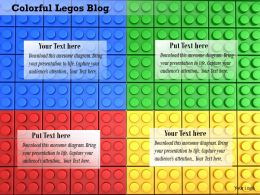 0814 Red Blue Green And Yellow Legoblocks Making Background Image Graphics For PowerPoint