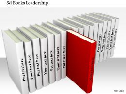 0814_red_book_coming_out_from_white_books_queue_shows_leadership_image_graphics_for_powerpoint_Slide01