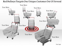 0814 Red Bulls Target One Unique Customer Shopping Cart Dartboard Graphics For Powerpoint