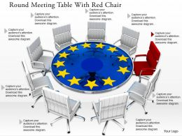 0814 Red Chair With White Chairs And Star Flagged Table For US Security Image Graphics For PowerPoint