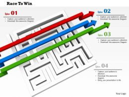 0814 Red Green And Blue Arrows Passing Over The Square Maze Image Graphics For Powerpoint