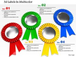 0814 Red Green Yellow And Blue Labels For Success Image Graphics For Powerpoint