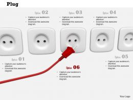 0814 Red Plug Approching For Socket Image Graphics For Powerpoint