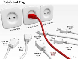 0814 Red Plug In Socket Leading White Plugs Shows Leadership Image Graphics For Powerpoint