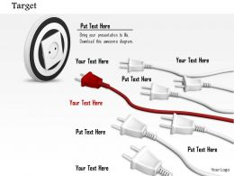 0814_red_plug_leading_multiple_white_plugs_for_target_achievement_image_graphics_for_powerpoint_Slide01
