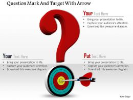 0814 Red Questionmark And Target With Arrow Image Graphics For Powerpoint