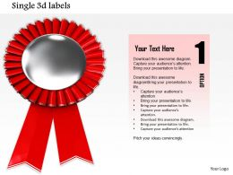 0814 Red Ribbon Batch For Championship Graphic For Powerpoint