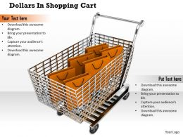 0814 Red Shopping Bag In Cart Image Graphics For Powerpoint