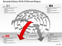 0814 Rounded Maze With Arrows For Growth Graphics For Powerpoint
