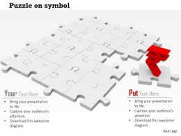 0814_rupee_symbol_on_white_puzzles_shows_finance_image_graphics_for_powerpoint_Slide01