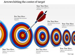 0814 Selection Of Right Target Concept Shown By Arrow Hitting Second Dart Image Graphics For Powerpoint