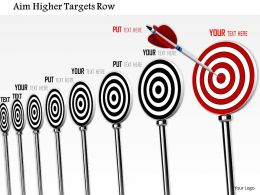 0814 Series Of Target Darts Shows Bulls Eye Concept Image Graphics For Powerpoint
