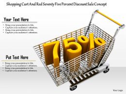 0814 Seventy Five Percent Discount Graphic In Cart Of Sales Image Graphics For Powerpoint