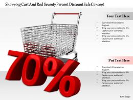 0814 Seventy Percent Discount Value With Cart Image Graphics For Powerpoint