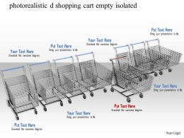 0814 Shopping Cart Empty In Row On White Background Image Graphics For Powerpoint