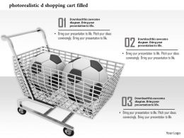 0814 Shopping Cart Filled By Football For Shopping Graphic Image Graphics For Powerpoint